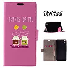BeCool® - Flip Cover Case Huawei Y6 - Honor 4A [ Viewing Stand ] Black Elegant Wallet , protects and adapts flawlessly to your Smartphone, together with our exclusive designs. Tea forever