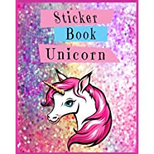 Sticker Book Unicorn: Blank Sticker Book