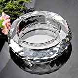 WAWZJ Glass face, crystal ashtray, big size creative ashtray,150MM