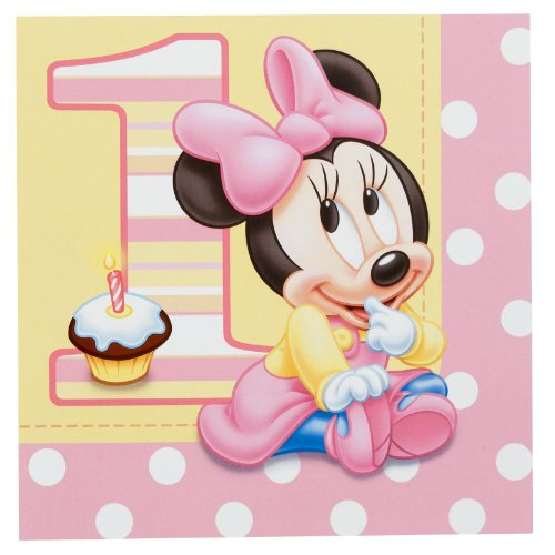 Disney Minnie's 1st Birthday Lunch Napkins (16) 1st Birthday Lunch Napkins