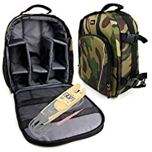 Camouflage Rucksack With Interior & Rain Cover for Fluke T5-1000 Electrical Tester and Fluke T5-600 Electrical Tester -by DURAGADGET