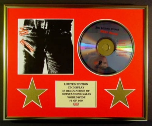 THE ROLLING STONES CD-Darstellung Limitierte Edition COA STICKY FINGERS FINGERS FINGERS B006X3OHHU Gerahmte Musik-Memorabilien 00ef47