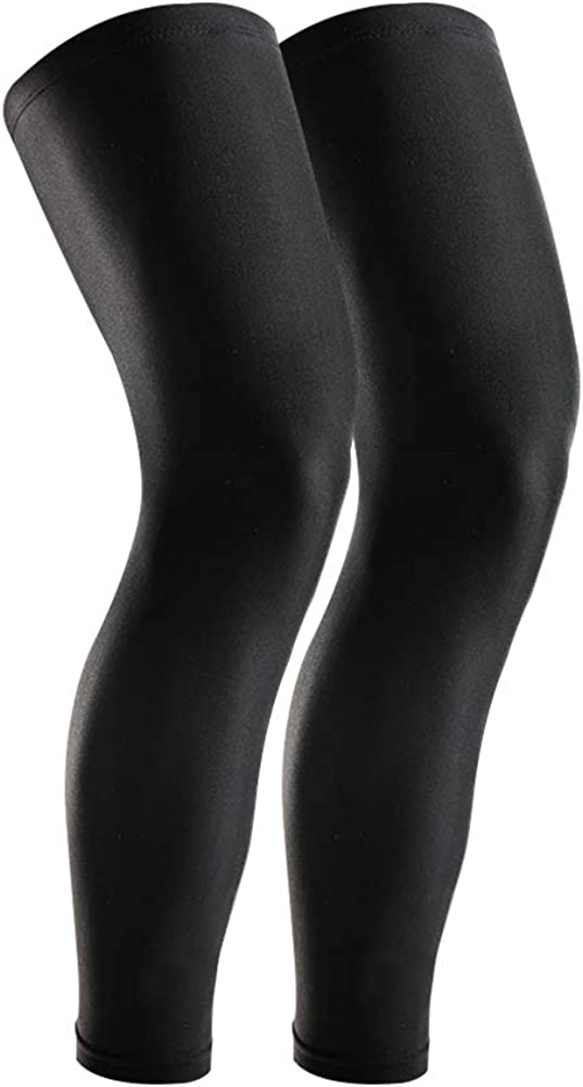 GonHui Full Leg Sleeves UV Protection Leg Compression Sleeves for men and women (1 Pair)