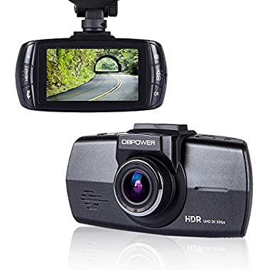 DBPOWER Car Dash Cam DVR 2.7  FHD 1080P 170 Degree Wide Angle Vehicle Dashboard Camera Driving Recorder with G-Sensor, Loop Recording, WDR & Superior Night Vision (Black)