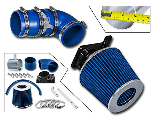 Rtunes Racing Short Ram Air Intake Kit + Filter Combo BLUE Compatible For 02-07 Mitsubishi Lancer 2.0L ...