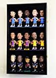 Bobble Head Figurine Display Case Cabinet Holder Wall Rack w/ UV Protection -Black
