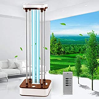 SHZICMY Ultraviolet Germicidal Lamp, UV Ozone Ultraviolet Germicidal Sterilization Light Home Disinfection Light Home Improve Home Light + Remote Controller 36W (Brown)