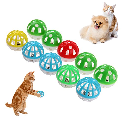 Puppet Girl Professional (Toys - 10pcs Plastic Cat Kitten Pet Play Balls Hollow Out Round Colorful Ball Chase Rattle Toys With Small - Mcfarlane On Fix Boys Music Zebra Zoob Bin Supplies Yrs)