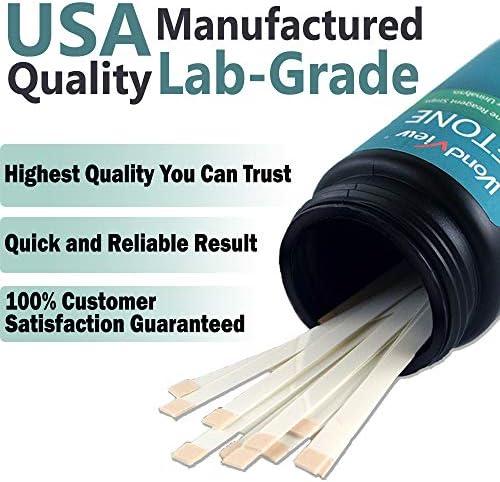 Wondview Ketone Test Strips: Testing Ketosis Based on Your Urine, 100 Ketone Urinalysis Tester Strips 4