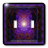 3dRose lsp_23493_2 The Power Within Meditation New Age Symbolic Mystic Mysticism Spiritual Spirituality Double Toggle Switch