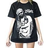 Modman Men's Rob Zombie Full Enjoy Tattoo T-Shirt Medium Black