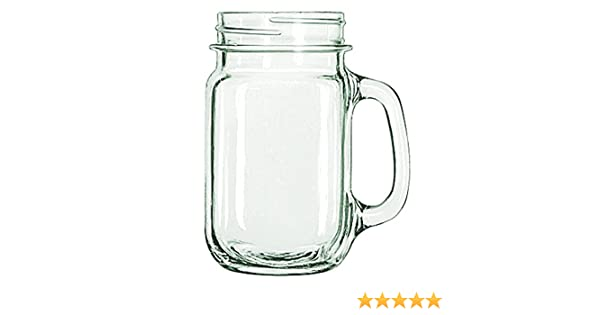 Tebery 9 Pack Old Fashioned Drinking Glass County Fair Glass Drinking Jars 16oz Mason Mugs with Handle and Straws