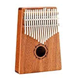 UK Dream 17 Keys Kalimba Mbira Sanza Likembe Thumb Piano Instrument Traditional African Music Instrucments 17 tone (17 Key)