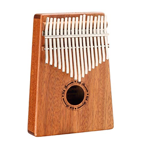 Kalimba 17 Keys Thumb Pianos with Command and Tuning Hammer Thumb Harp, Portable Finger Piano Instrument Acacia Wood Body Ore Metal Teeth