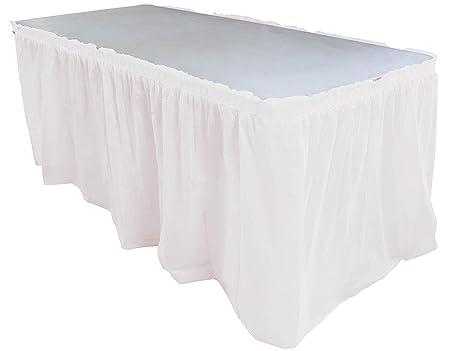 Falda de Mesa de Plástico Antiarrugas para Fiesta Boda Banquete ...