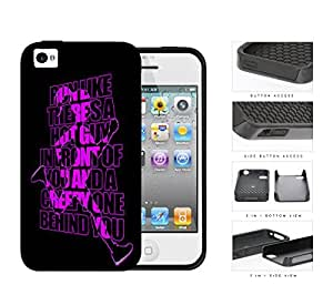 Run Like There's A Hot Guy Violet 2-Piece Dual Layer High Impact Rubber Silicone Cell Phone Case Apple iPhone 4 4s
