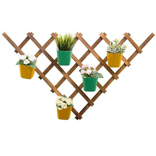 Estante de flores de varias capas, estructura de soporte de madera ...