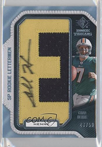 chad-henne-47-50-football-card-2008-sp-rookie-threads-rookie-lettermen-last-name-ch38