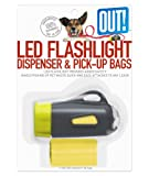 OUT! Flashlight Dispenser & Waste Pick-Up Bags, 30-Pack