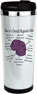 Atlas Of A Hygienists Brain Stainless Steel Travel Mug, Insulated 14 oz. Coffee Tumbler