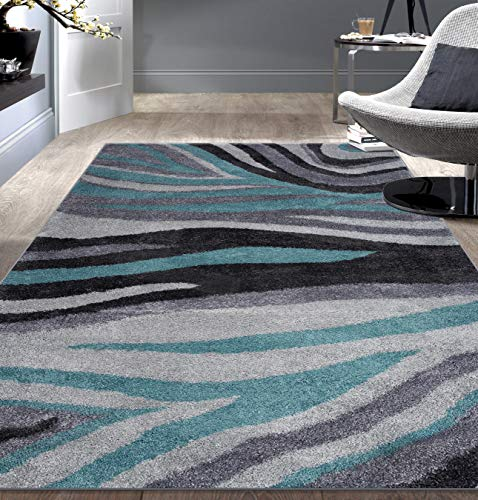 (Rugshop Contemporary Abstract Ultra Soft Shag Area Rug 7'10