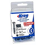 Kreg SML-C125B-100 Blue-Kote WR Pocket Screws - 1-1/4-Inch, 100 pack