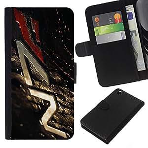 LECELL--Cuero de la tarjeta la carpeta del tirón Smartphone Slots Protección Holder For HTC DESIRE 816 -- N7 Misa Eff3Ct --