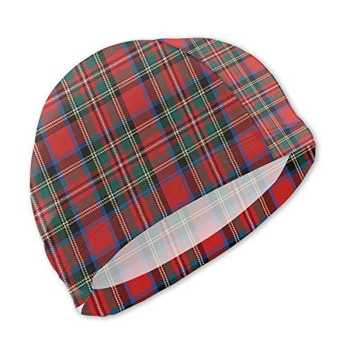 (Lxmn Swim Caps for Children,Charles Stuart Stewart Tartan Plaid Outlander Bathing Caps Swim Hat Kid Sun Hat)
