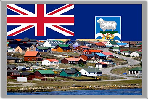 (STANLEY REFRIGERATOR MAGNET FRIDGE MAGNET, THE CAPITAL CITY OF FALKLAND ISLANDS REFRIGERATOR MAGNET)