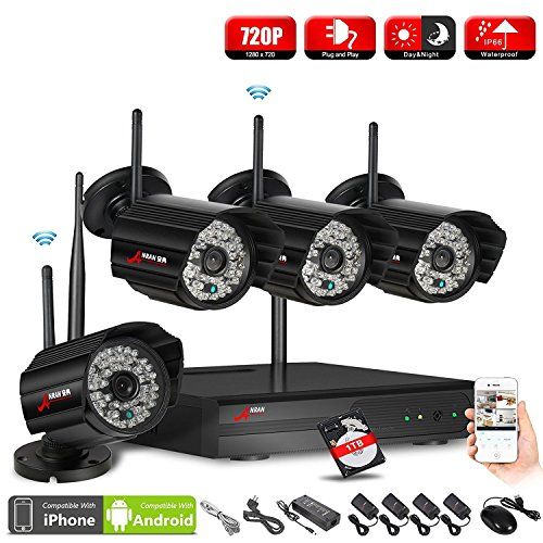 ANRAN 4CH 1080P HD NVR Wireless Security CCTV Surveillance Systems WIFI NVR Kits