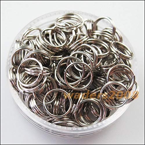 - Calvas 250Pcs 6mm Split Ring Double Connectors 6Colors - (Color: Dull Silver PLT)