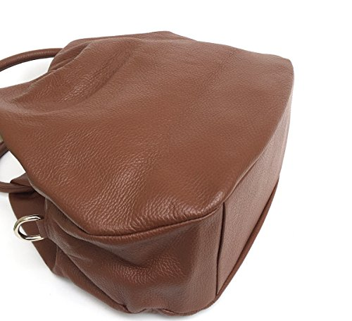 SUPERFLYBAGS Borsa Donna in Vera Pelle morbida modello Botero Mini Made in Italy Marrone