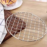 Summerdaisy Durable Stainless Steel Round Baking Barbecue Rack Multi-Purpose Wire Food Steamer/Cooking/Baking/Steaming Rack/ Stand(with legs)