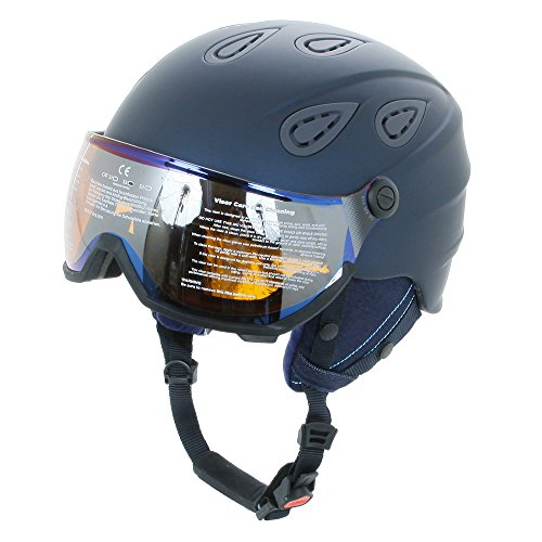Alpina Grap Visor HM Casque de ski unisexe nightblue-denim matt