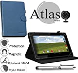 Navitech Blue Case/Cover with 360 Rotational Stand & Stylus Pen for The RCA pro 10 Edition Tablet