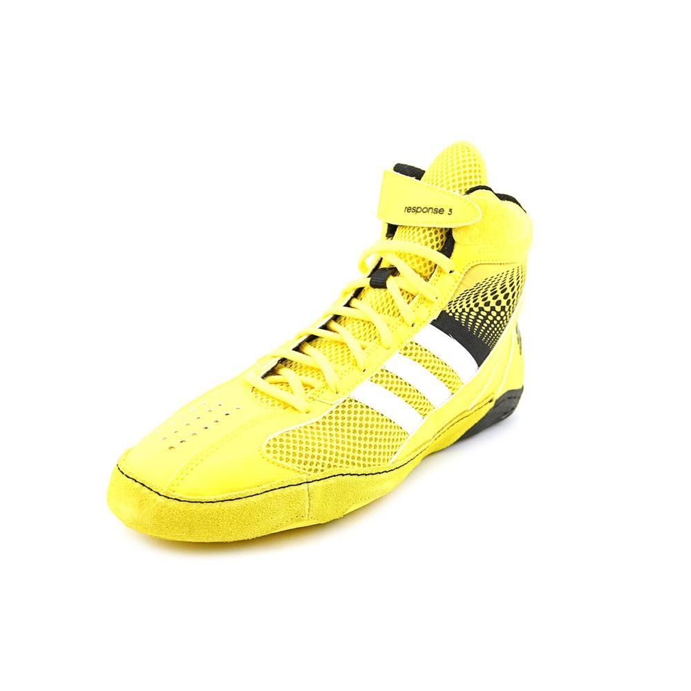 Adidas Response 3.1 Wrestling Shoes - Bright Yellow/Silver/Black - 14 by adidas