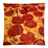 Pepperoni Pizza Best-selling Zippered Pillow Cases 18x18 inches(Two Sides)