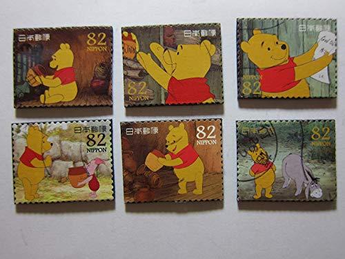 Stamp Refrigerator Magnet - Winnie the Pooh Magnets - Set of 6 Postage Stamp Fridge Magnets Item#528e