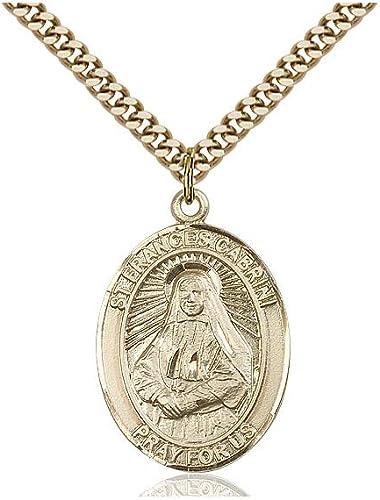 14kt Gold St Frances Cabrini Medal