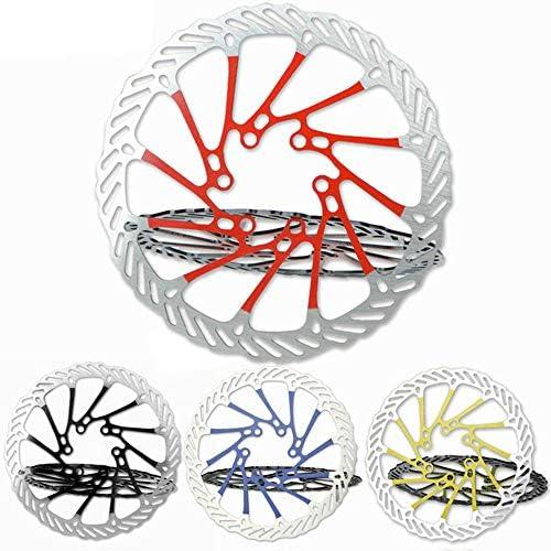 ロードバイクディスク ほとんどの自転車ロードバイクマウンテンバイクBMX MTB 160mm用6ボルトアルミ合金バイクディスクブレーキローター (色 : 青, サイズ : 160mm)
