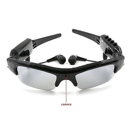 TANGMI microcamere espía gafas de sol 4 de 1 MP3 Mini cámara espía DVR SD Card