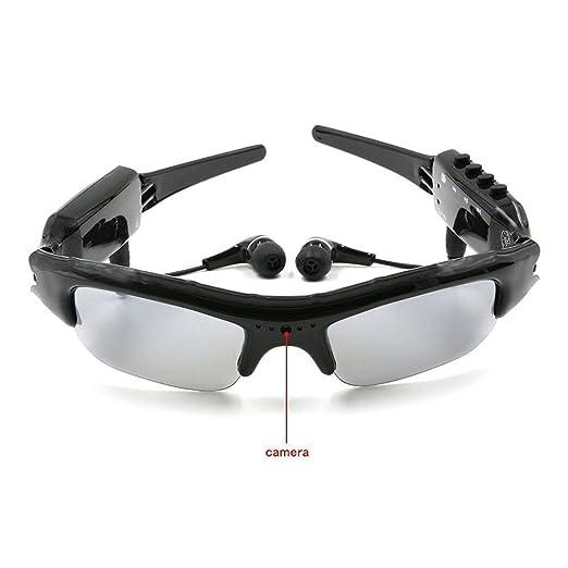2 opinioni per TANGMI Microcamere Spia Occhiali da Sole 4 in 1 MP3 mini telecamera spia SD Card