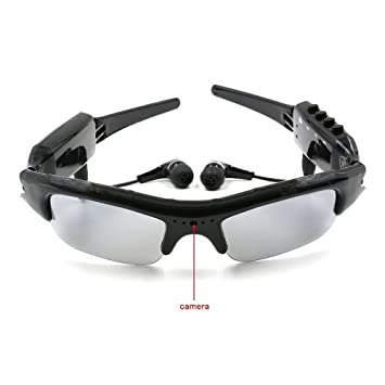 cee5bf4c94 TANGMI microcamere espía gafas de sol 4 de 1 MP3 Mini cámara espía DVR SD  Card Player Mini cámara oculta Cam Video Camcorder Recorder 8 G Micro  incluida: ...