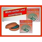 22 Uds. Espirales anti- mosquitos espirales para mosquitos Espiral para insectos Insectos Espiral y maceta de barro