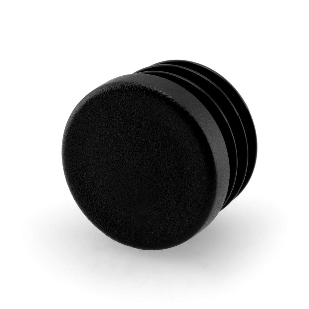 GLEITGUT Lot de 4 bouchons /à lamelles 23 mm /à 25 mm Tube rond 27 mm Tube ext/érieur gris
