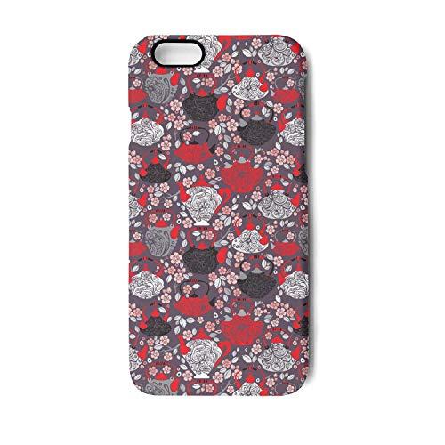 - Retro Design China Tea Pots Phone Case for iPhone 8 Plus,iPhone 7 Plus TPU Gel Anti-Fingerprint Anti-Scratch Fashionable Glossy Soft Anti Slip Thin Shockproof Durable