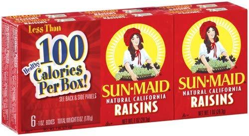 Natural California Raisins (Pack of 36)