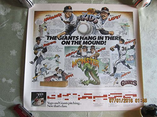 San Francisco Giant Schedule (1983 San Francisco Giants Schedule Poster - Hammaker, Minton, krukow)