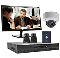 1-Camera HD-TVI 2.0 Megapixel with 130′ IR varifocal Interview Room Audio/Video Surveillance System