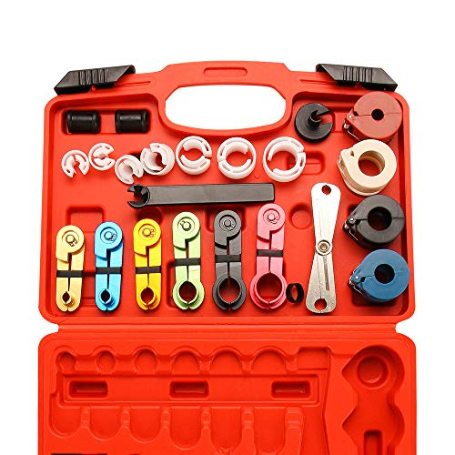 - X XINDELL 22pcs Master Quick Disconnect Tool Kit for Automotive AC Fuel Line and Transmission Oil Cooler Line, Includes Scissor Type Remover, Compatible with Most Ford Chevy GM Models